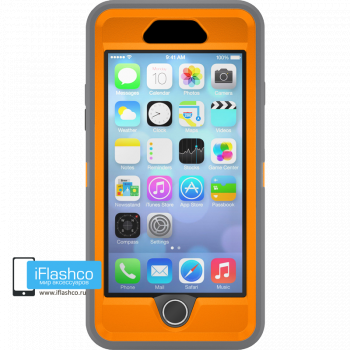 Чехол OtterBox Defender для iPhone 6 Plus / 6s Plus Gunmetal Grey / Blaze Orange серый с оранжевым