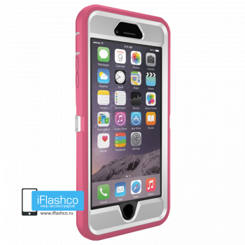Чехол OtterBox Defender для iPhone 6 Plus / 6s Plus Hibiscus Frost розовый с белым
