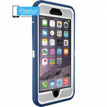 Чехол OtterBox Defender для iPhone 6 Plus / 6s Plus White/Deep Water Blue синий с белым
