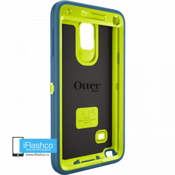 Чехол OtterBox Defender для Samsung Galaxy Note 4 Electric Indigo синий с салатовым