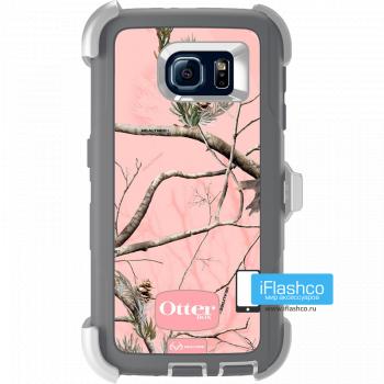 Чехол OtterBox Defender для Samsung Galaxy S6 White/Gunmetal Grey Ap Pink серый