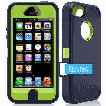 Чехол OtterBox Defender iPhone 5 черный с салатовым