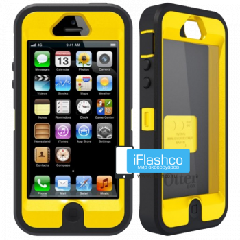 Чехол OtterBox Defender iPhone 5 черный с желтым
