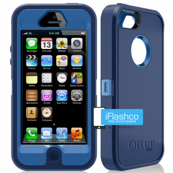 Чехол OtterBox Defender iPhone 5 синий