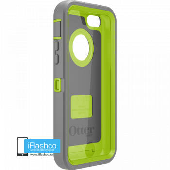 Чехол OtterBox Defender iPhone 5c Gunmetal Grey / Glow Green серый с зеленым