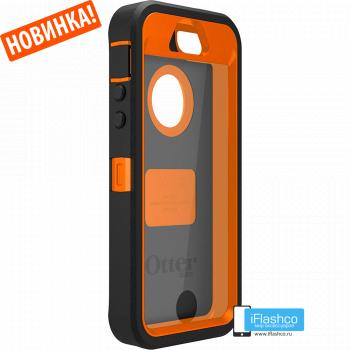 Чехол OtterBox Defender iPhone 5S / SE черный с оранжевым