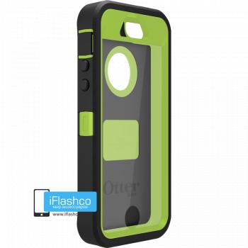 Чехол OtterBox Defender iPhone 5S / SE черный с салатовым