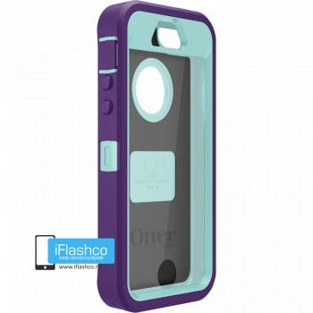 Чехол OtterBox Defender iPhone 5S / SE фиолетовый с голубым