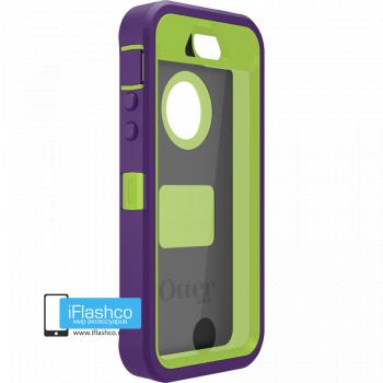 Чехол OtterBox Defender iPhone 5S / SE фиолетовый с салатовым