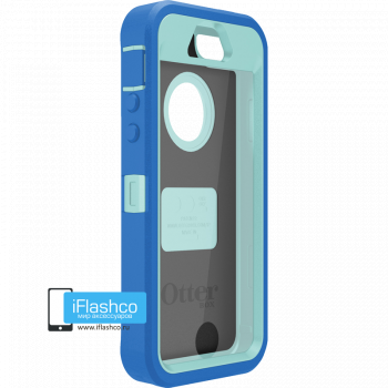 Чехол OtterBox Defender iPhone 5S / SE синий с голубым