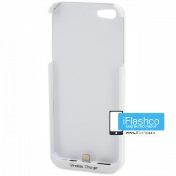 Чехол-приемник iPhone 5 / 5S для беспроводного З/У Qi белый