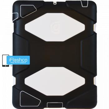 Чехол противоударный Griffin Survivor для iPad 2 / New / 4 черный с белым