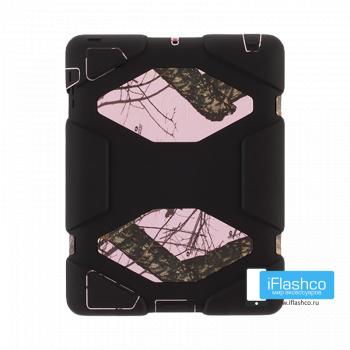 Чехол противоударный Griffin Survivor для iPad 2 / New / 4 черный с рисунком