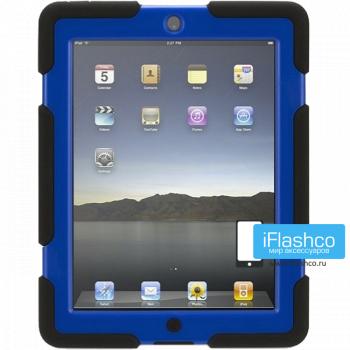 Чехол противоударный Griffin Survivor для iPad 2 / New / 4 черный с синим