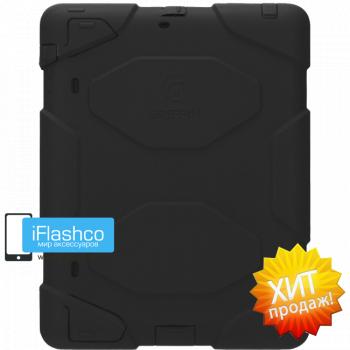 Чехол противоударный Griffin Survivor для iPad 2 / New / 4 черный