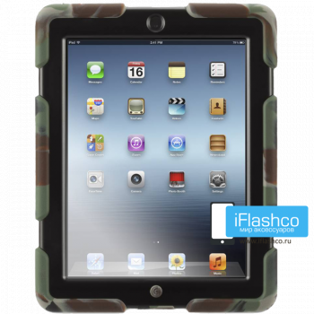 Чехол противоударный Griffin Survivor для iPad 2 / New / 4 камуфляж