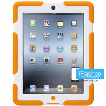 Чехол противоударный Griffin Survivor для iPad 2 / New / 4 оранжевый с белым