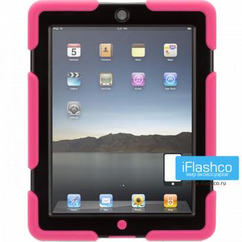 Чехол противоударный Griffin Survivor для iPad 2 / New / 4 розовый с черным