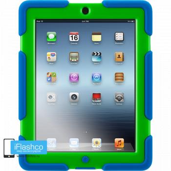 Чехол противоударный Griffin Survivor для iPad 2 / New / 4 синий с зеленым