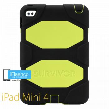 Чехол противоударный Griffin Survivor для iPad mini 4 / 5 черный с салатовым