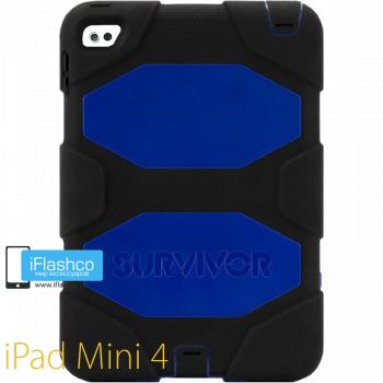 Чехол противоударный Griffin Survivor для iPad mini 4 / 5 черный с синим