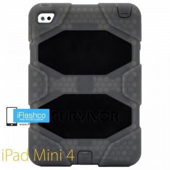 Чехол противоударный Griffin Survivor для iPad mini 4 / 5 серый прозрачный
