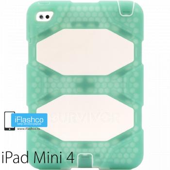 Чехол противоударный Griffin Survivor для iPad mini 4 / 5 зеленый с белым