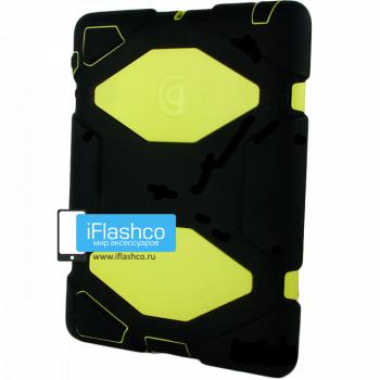 Чехол противоударный Griffin Survivor для iPad mini 1 / 2 / 3 черный с салатовым