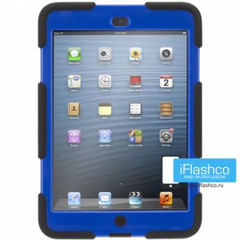 Чехол противоударный Griffin Survivor для iPad mini 1 / 2 / 3 черный с синим