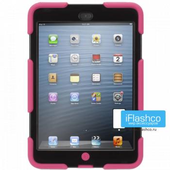 Чехол противоударный Griffin Survivor для iPad mini 1 / 2 / 3 розовый с черным