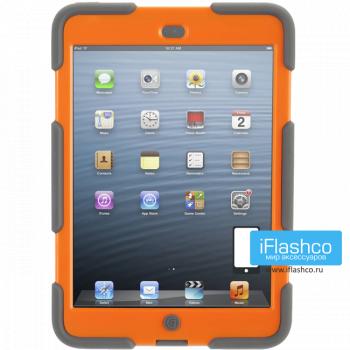 Чехол противоударный Griffin Survivor для iPad mini 1 / 2 / 3 серый с оранжевым