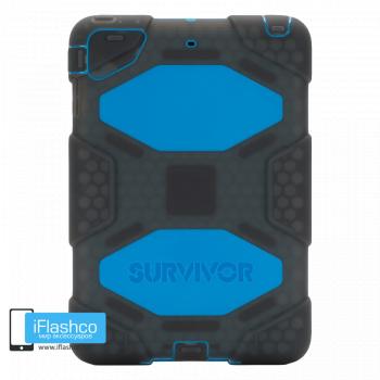 Чехол противоударный Griffin Survivor для iPad mini 1 / 2 / 3 серый с синим