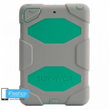 Чехол противоударный Griffin Survivor для iPad mini 1 / 2 / 3 серый с зеленым