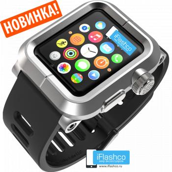 Чехол Lunatik EPIK для Apple Watch 38 мм Silver серебристый