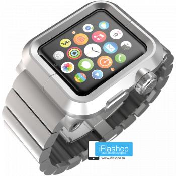 Чехол Lunatik LYNK Silver для Apple Watch 38 мм серебристый