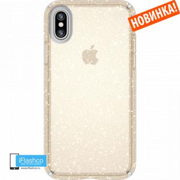 Чехол Speck Presidio Clear + Glitter CLEAR/GOLD для iPhone X/Xs