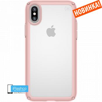 Чехол Speck Presidio Clear Pink для iPhone X/Xs прозрачный розовый