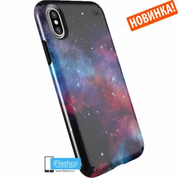 Чехол Speck Presidio для iPhone X/Xs MILKY WAY BLACK GLOSSY/BLACK