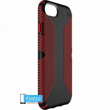 Чехол Speck Presidio Grip для iPhone 7/8/SE BLACK/DARK POPPY RED
