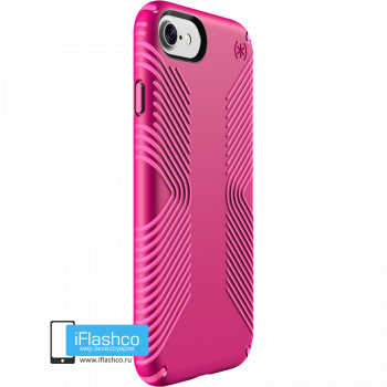 Чехол Speck Presidio Grip для iPhone 7/8/SE LIPSTICK PINK/SHOCKING PINK