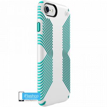 Чехол Speck Presidio Grip для iPhone 7/8/SE WHITE/JEWEL TEAL