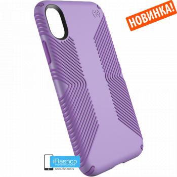 Чехол Speck Presidio Grip для iPhone X/Xs ASTER PURPLE/HELIOTROPE PURPLE