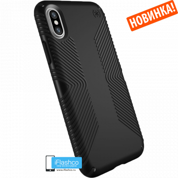 Чехол Speck Presidio Grip для iPhone X/Xs BLACK/BLACK