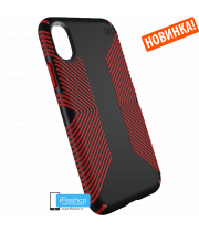 Чехол Speck Presidio Grip для iPhone X/Xs BLACK/DARK POPPY RED