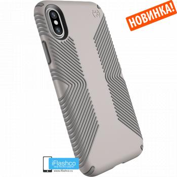 Чехол Speck Presidio Grip для iPhone X/Xs CATHEDRAL GREY/SMOKE GREY