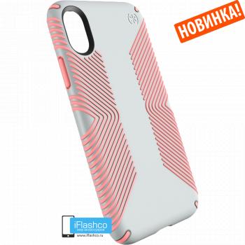 Чехол Speck Presidio Grip для iPhone X/Xs DOVE GREY/TART PINK
