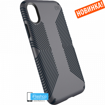Чехол Speck Presidio Grip для iPhone X/Xs GRAPHITE GREY/CHARCOAL GREY