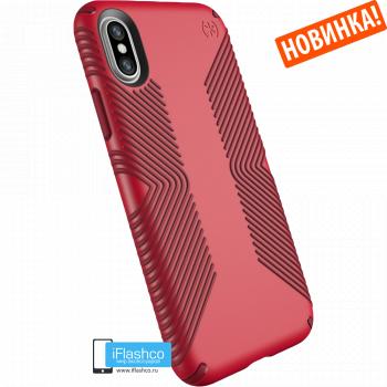 Чехол Speck Presidio Grip для iPhone X/Xs MARS RED/VELVET RED