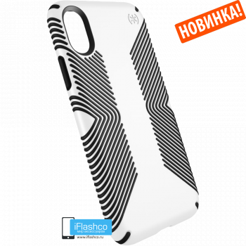 Чехол Speck Presidio Grip для iPhone X/Xs WHITE/BLACK