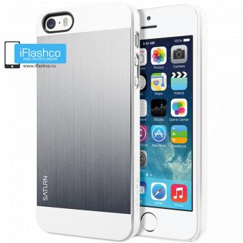 Чехол Spigen Saturn для iPhone 5 / 5S серебристый